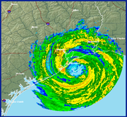Hurricane Ike approaching Galveston, Texas