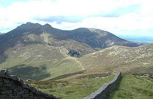 View of the mountains and mourne wall in North...