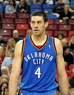 English: Nick Collison of the Oklahoma City Th...