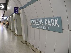 English: Queen's Park TTC subway station in To...