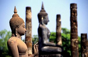 Buddhist images at Wat Mahathat built during t...