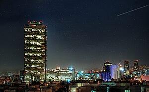 Español: Torre Pemex de Noche.