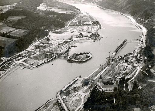 Verbund kraftwerk ybbs-persenbeug 1956
