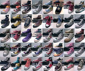 English: 40 different Converse variations from...