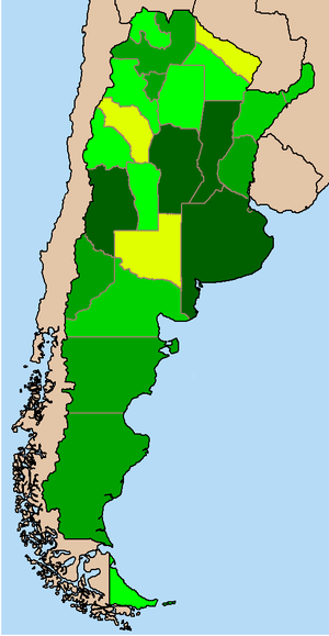 English: Argentina provinces by GDP (nominal)