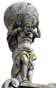 Sculpture of Atlas, Praza do Toural, Santiago de Compostela