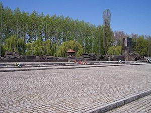 Concentration camp Auschwitz II Birkenau Polsk...
