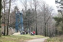 Aussichtsturm Eiserner Anton längs des Weges in Bielefeld-Stieghorst