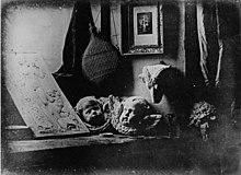 Daguerrotipo experimental de 1837. Bodegón, por Daguerre.