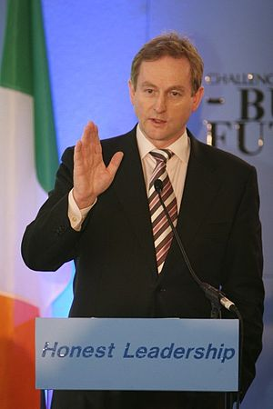 English: Enda Kenny speaking at the YFG nation...