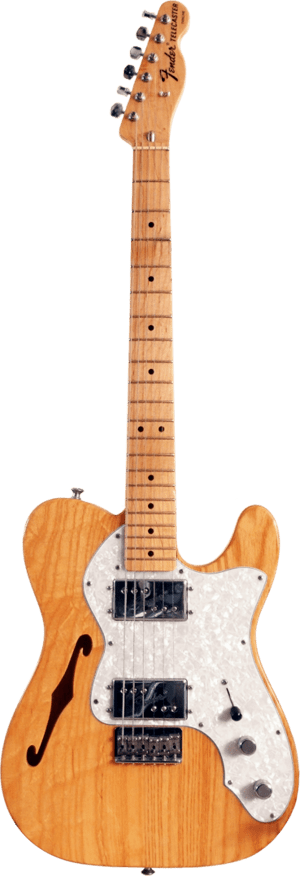 A Fender '72 Telecaster Thinline electric guitar