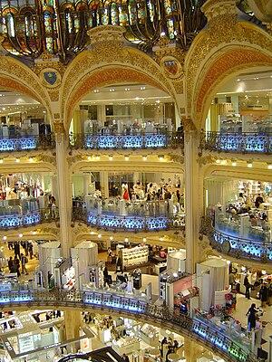 Galeries Lafayette vue intérieure