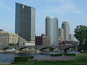 Picture I took of Downtown Grand Rapids, MI fr...
