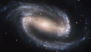 NGC 1300, viewed nearly face-on. Hubble Space ...