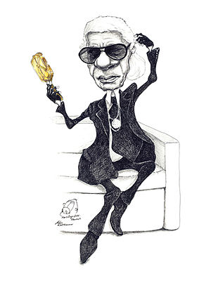 English: karl lagerfeld