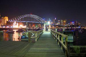 Lavender Bay Wharf, Lavender Bay, NSW, Australia.