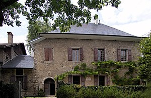 The house where Jean-Jacques Rousseau lived wi...