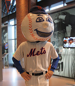 English: The original Mr. Met costume in the M...