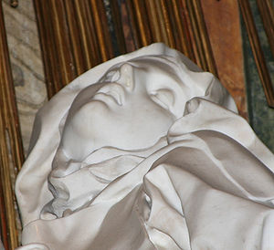 Ecstasy of St Theresa (detail), 1652, by Gianl...