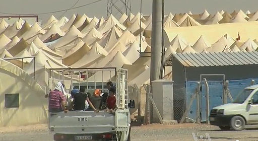 Syrian refugee camp on theTurkish border