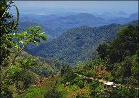 The Ella Gap view towards the South Coast, Sri Lanka