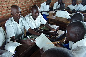 Students in Uganda