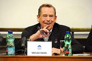 English: Václav Havel during his speech at the...