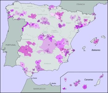 Wine regions of Spain with denominación de ori...