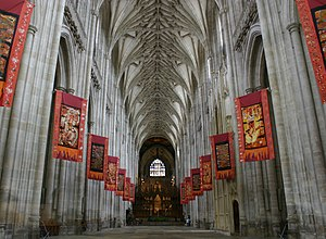 English: Winchester Cathedral (england) lined ...
