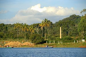 Lake and the surrounding scenery in Yelagiri, ...