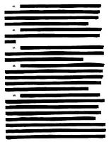 heavily redacted page from the lawsuit American Civil Liberties ...