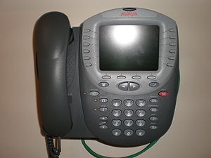 An Avaya 4625SW IP phone