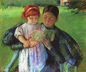 Nurse Reading to a Little Girl