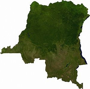 Satellite image of Democratic Republic of the ...