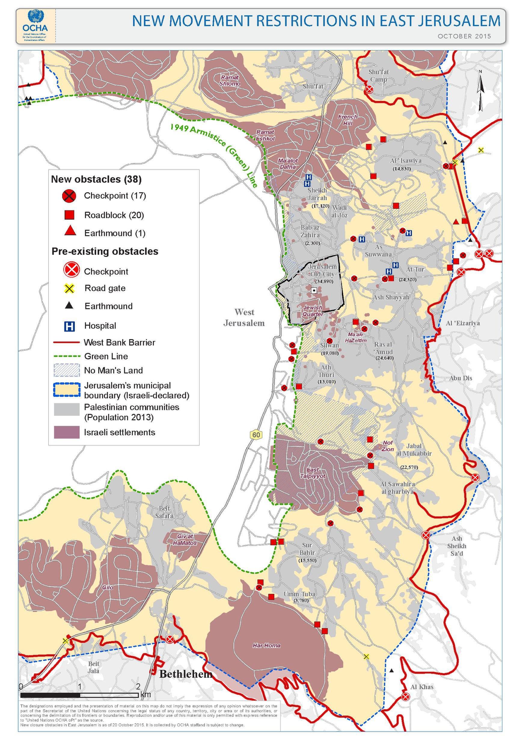 File East Jerusalem October Access Restrictions