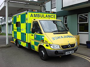 An East of England Emergency Ambulance at West...