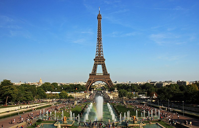 File:Eiffel tower from trocadero.jpg
