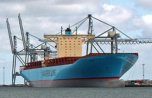 Emma Maersk, the world's currently largest con...