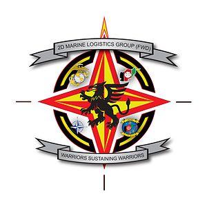 English: 2nd Marine Logistics Group (Forward) Logo