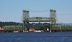 The Interstate Bridge, on Interstate 5 in Oreg...