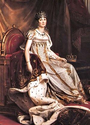Joséphine de Beauharnais wearing a dress with ...