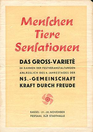 """Deutsch: """"Kraft durch Freude""""-Verans..."""