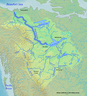English: Map of the Mackenzie River, second gr...