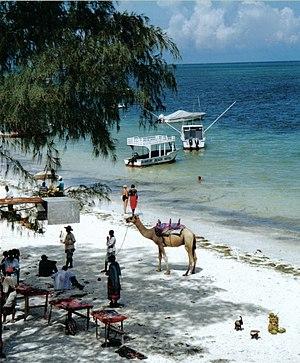 Beach north of Mombasa
