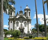 Igreja em estilo barroco de São João del-Rei remonta a época do ciclo do ouro.