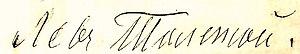English: Signature of Leo Tolstoy