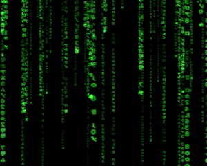 The Matrix - Screenshot of the famous GLMatrix...