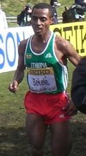 Kenenisa Bekele en los mundiales Osaka 2007