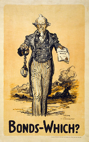 Poster showing Uncle Sam proffering Liberty Bo...