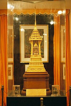 本物の仏舎利を収めた仏塔 (2005/01/22 National Museum, Delh...